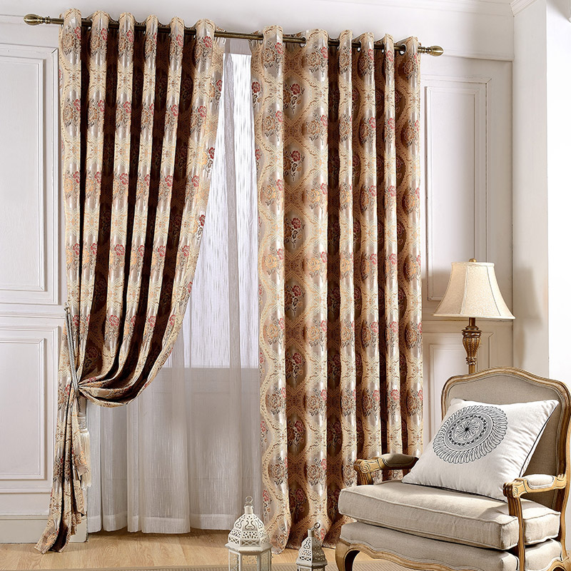 The new european style living room den bedroom curtains - European style curtains for living room ...