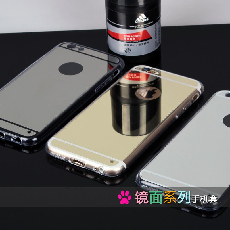 Mirror Cell Phone Case Electroplating Chrome Ultrathin Soft TPU Phone Case Cover For iphone 5 5S 6 6S 6 Plus 6S Plus(China (Mainland))