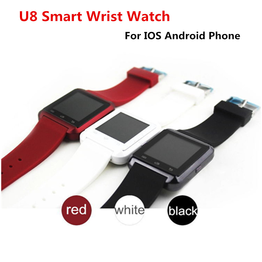 DHL Freeshipping 10 Pcs/Lot Bluetooth Smart Wrist Watch U8 Smartwatch For IPhone IOS Android Phones Good as G&T 08 DZ09 For Sony(China (Mainland))
