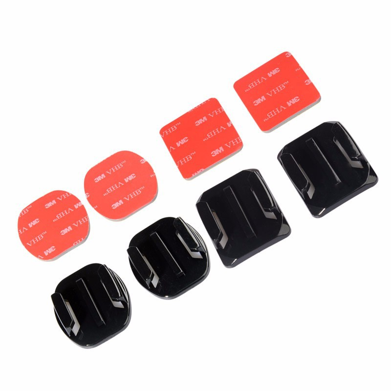 image for Flat Curved 3M Adhesive Mount Go Pro Accessories Set  For Gopro Hero 4