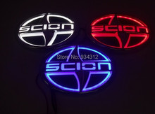 5D scion Car Logo Rear Laser Light Red Blue White Light led Emblem stickers scion front head logo(China (Mainland))
