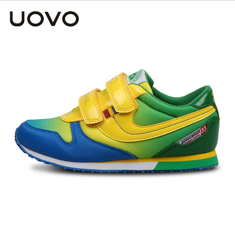 UOVO 2016 New Kids shoes fashion boys girls running shoes Casual Sneakers Children shoes Breathable shoes boys Spring Autumn<br><br>Aliexpress