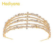 Hadiyana luxe argent zircon cubique mariage diadème couronne mariée cheveux accessoires diadèmes haute qualité princesse couronne fête BC4721(China)