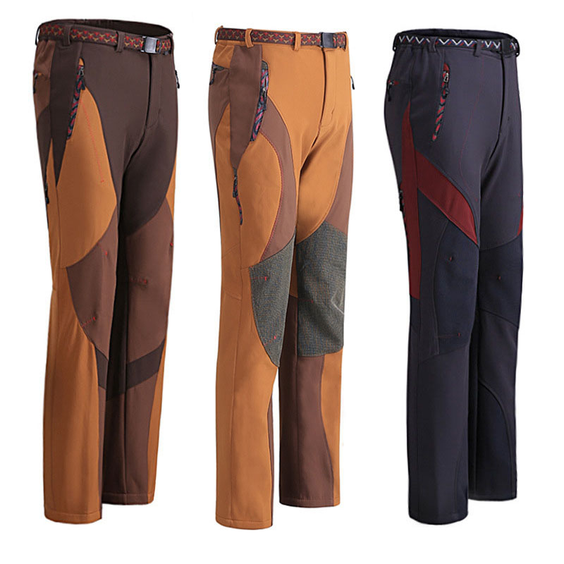 2015 New Outdoor Brand Outdoor Pants Men Hiking&amp;Camping Softshell Pants Waterproof Windproof Thermal For Hiking Camping Ski<br><br>Aliexpress