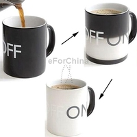 Funky Heat Sensitive Color Changing ON/ OFF Switch High-Grade Porcelain Fashion Coffee Mug/ Cup