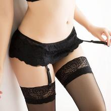 New Arrivals Women's Lace Dual Layer Suspender G-String Hold Stocking Garter Belts 4 Colors