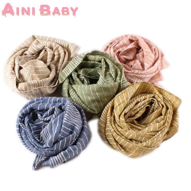 Чистый белый полосы шарф двойной дети глушитель осень зима теплый шарф картины ребенка ...