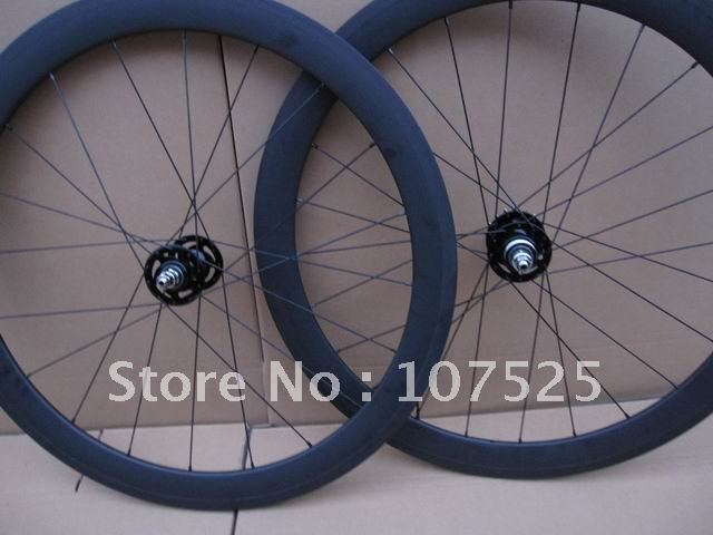 carbon 50mm fixed gear wheel,700c full carbon track wheel (20/24 holes)(China (Mainland))
