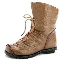 MCCKLE kadın yarım çizmeler artı boyutu sonbahar düşük topuk ayakkabı platformu rahat kadın kısa çizme moda dantel Up kat kadın ayakkabıları(China)