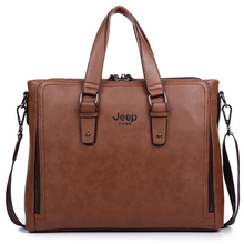 2015 Famous Designer Jeep Brands Men Business Briefcase Genuine Leather Shoulder Bags For 14 Inch Laptop Bag Travel Handbags(China (Mainland))