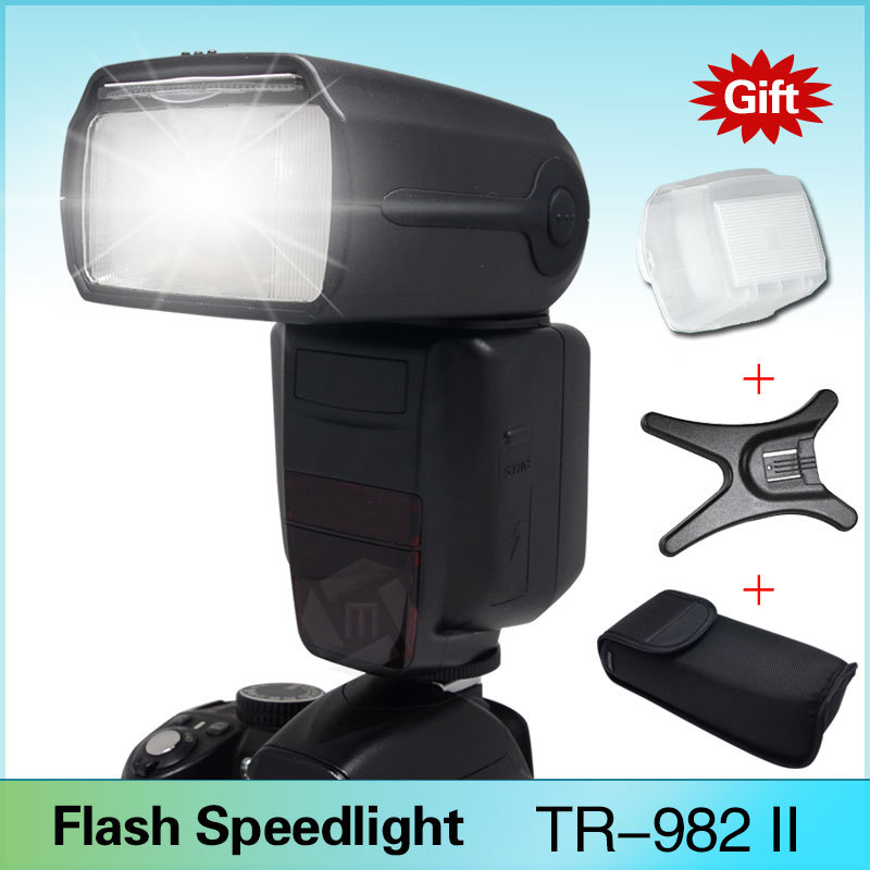Triopo TR-982II E-TTL GN58 1/8000 HSS Master & Slave Flash Speedlite for Canon EOS 5D Mark ii iii 6D 7D 60D 70D 600D 580EX II(China (Mainland))