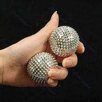 Free Shipping 2Pcs Hand Palm Massage Needle Massaging Stimulation Balls