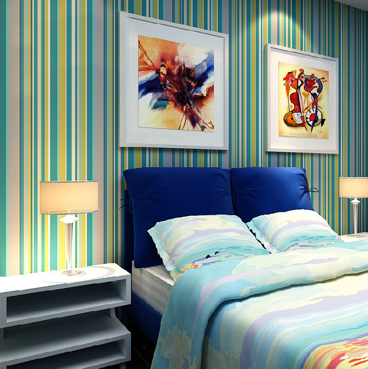 Color Back Anyway Striped Wallpaper Modern Bedroom Living Room Children 39 S Room Wall Woven