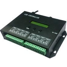 Из светодиодов полноцветный программируемый контроллер, Карта sd, 8 порта диск 8192 пикселей, Поддержка dmx512, Ws2811, Ws2812, И т . д .. Программное обеспечение