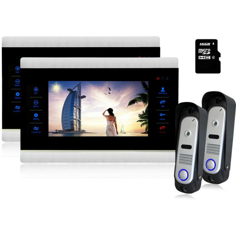 YSECU 10 Video Door Intercom Door Phone Recording Doorbell Camera Intercom 10 Inch 800TVL HD Additional Monitor Support 2V2<br><br>Aliexpress