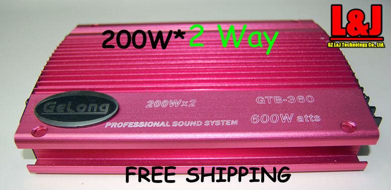 GRB-360 2 Way Amplifier /  Car speaker /  EQ / Stero<br><br>Aliexpress