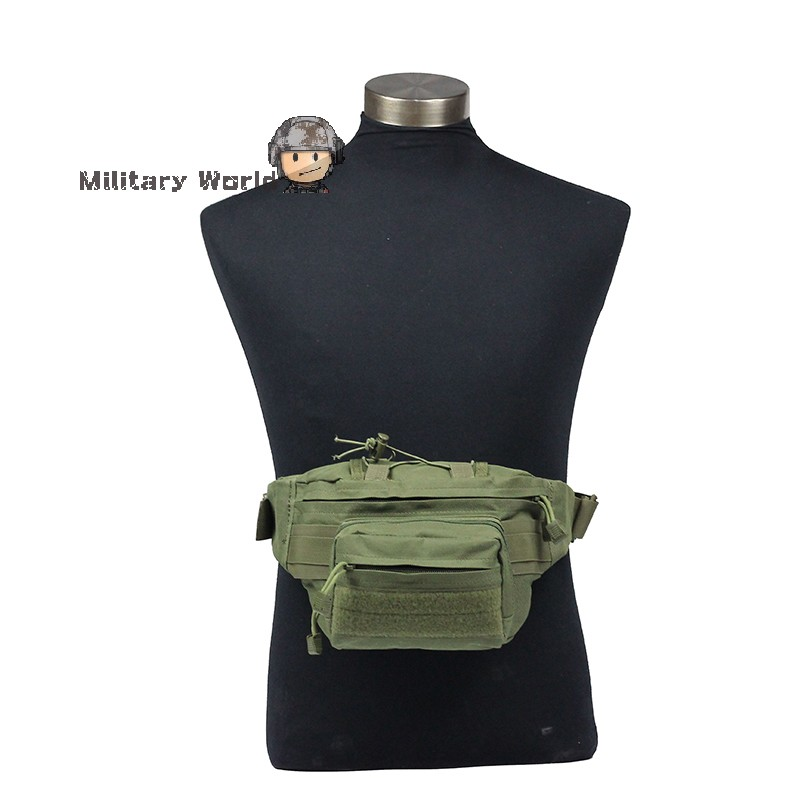 Military Combat Tactical Outdoor Waist Bag Airsoft Sports Casual Bags Multifunction Lightweight for Hunting Hiking Camping