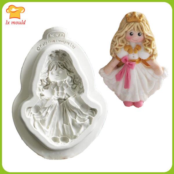 Alibaba high-grade sugar silicone mold cute doll Fairy dancing dolls pirates 4 optional cake decorating tools(China (Mainland))