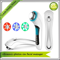 Home Use Galvanic Spa 3MHZ Ultrasonic Photon Led Skin Rejuvenation Rechargeable Free Shipping