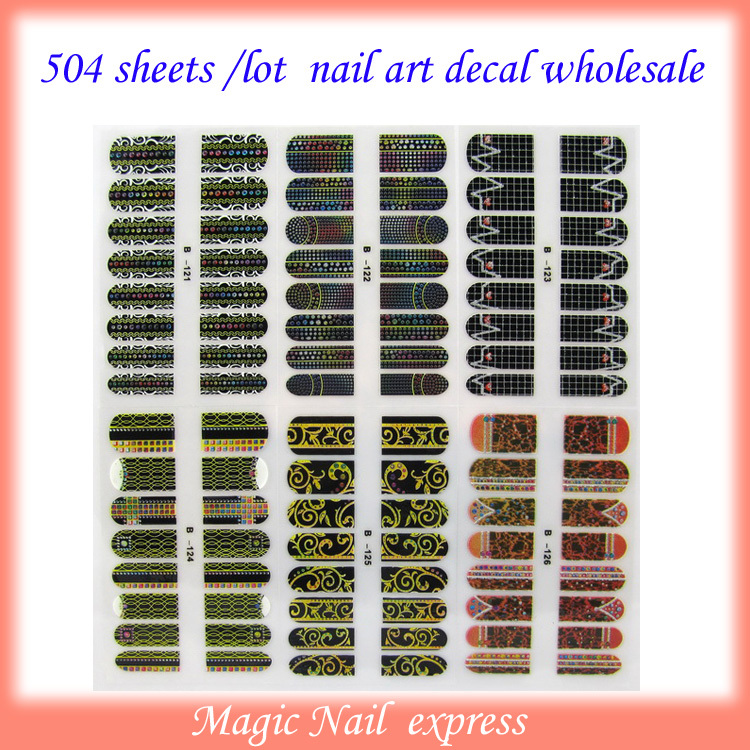 New arrival 3D Nail Art Polish Foils Decal Stickers Tips Wraps DIY Sheet Decorations 504sheets/lot free shipping<br><br>Aliexpress