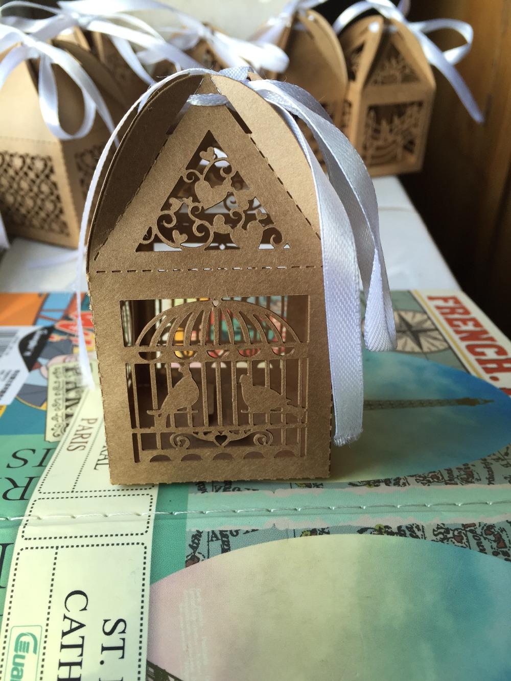 5*5*8.5 cm Nova Chegada 100 pcs Pássaro Bolo Macaron de Chocolate Casamento Caixa De Embalagem de Papel Kraft/Embalagem de Presente Caixas de Festa de natal(China (Mainland))