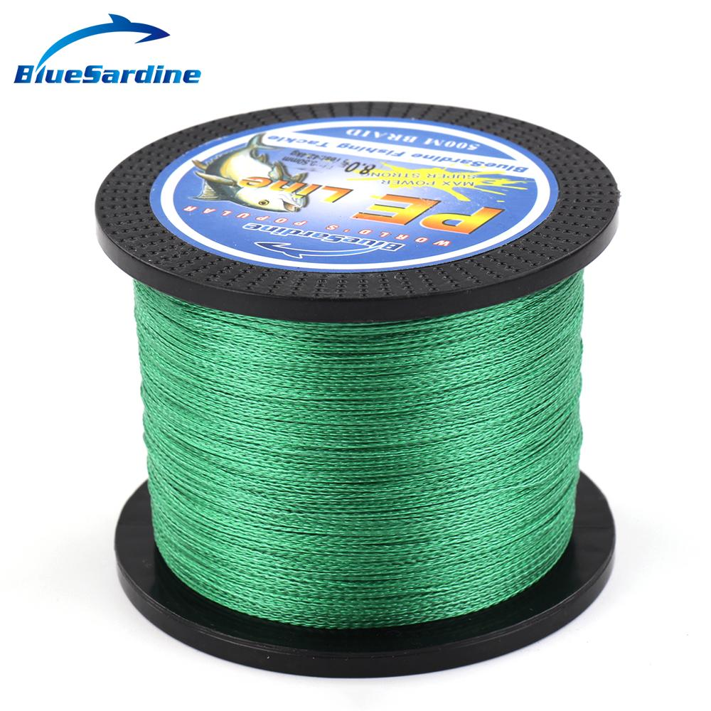 500m green braided fishing line multifilament fishing wire for Green fishing line