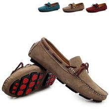 Otoño del resorte nuevos hombres zapatos planos casual comfort hombres mocasín zapatos del barco mocasines alta calidad slip on Gommino zapatos de conducción 697(China (Mainland))