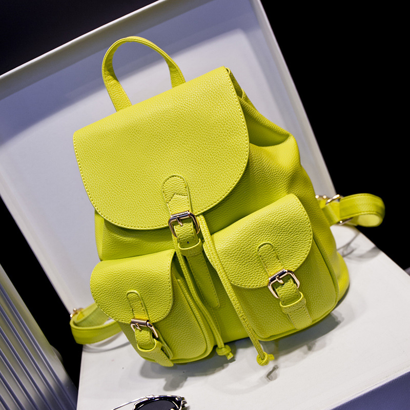 Fersh Girl Backpack,Fabulous Colorful Female Multi-Pocket Women Bag,Leather Bolsas Mujer,Fashion Shopping Bags Rucksack Tote B20<br><br>Aliexpress