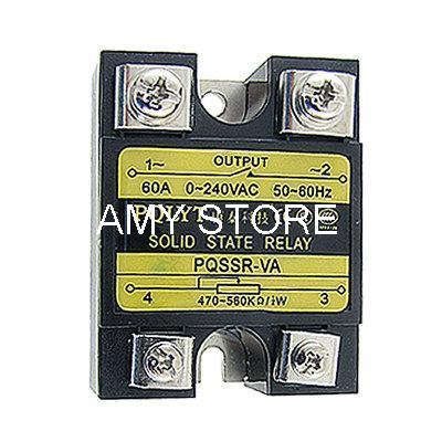SSR Solid State Relay Volt Resistance Regulator SSR-60VA 60A 0-240V AC
