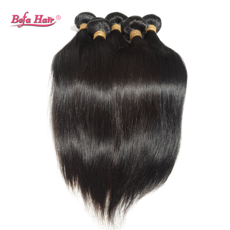 3pcslot New virgin peruvian hair straight  human hair extension Grade 6A befa hair products free shedding