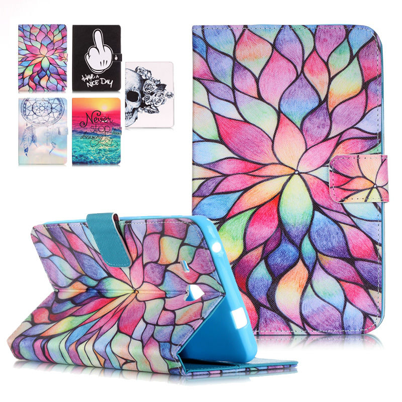 Stand Tablet PU Leather Cover Case For Samsung Galaxy Tab A 7.0 T280 SM-T280 T280N T285 Fundas Coque W/Card Slots