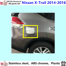 For N1ssan X-trail xtrail 2014 2015 2016 car body Gas/Fuel/Oil Tank Cover Cap stick styling ABS chrome auto lamp frame trim 1pcs