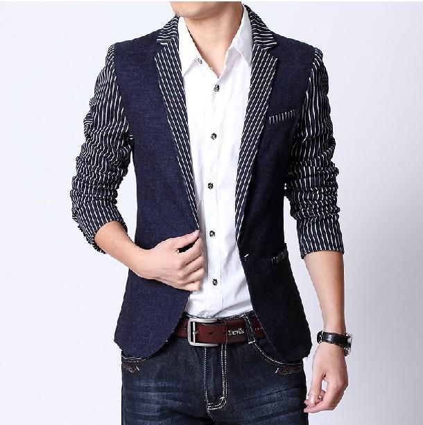 New Fashion Stylish Formal Menu0026#39;s Suit Coatcasual Menu0026#39;s Blazerluxury Business Suitsstripe ...