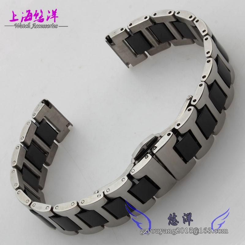 16 мм 18 мм 20 мм керамические и нержавеющей стали ремешок для часов белый или черный часы полоса ремешок бабочка пряжка браслет