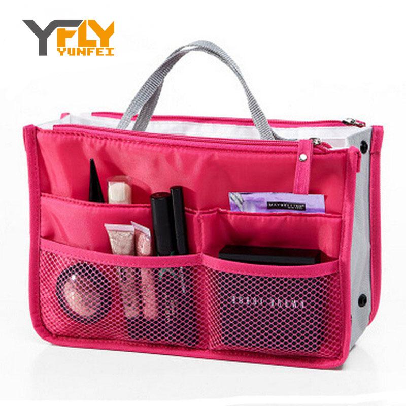 Y-FLY 2016 Multifunction Makeup Organizer Bag Women Cosmetic Bags toiletry kits Outdoor Travel Bags Ladies Bolsas HB004(China (Mainland))