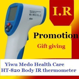 Free Shipping High-accuracy Non-Contact IR Laser Infrared Digital Thermometer LCD Body Surface Forehead thermometer HT-820
