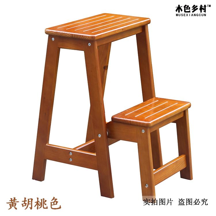 Escalera taburetes de madera plegable escalera de mano de doble escalera interior escalera de ...
