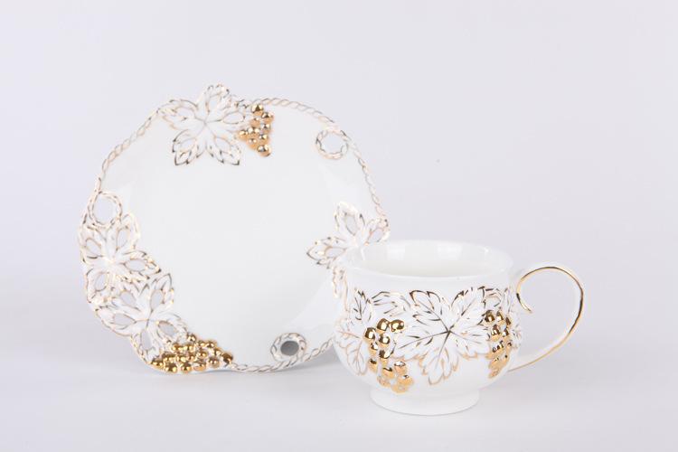 Free shipping European English style bone china ceramic coffee cup set