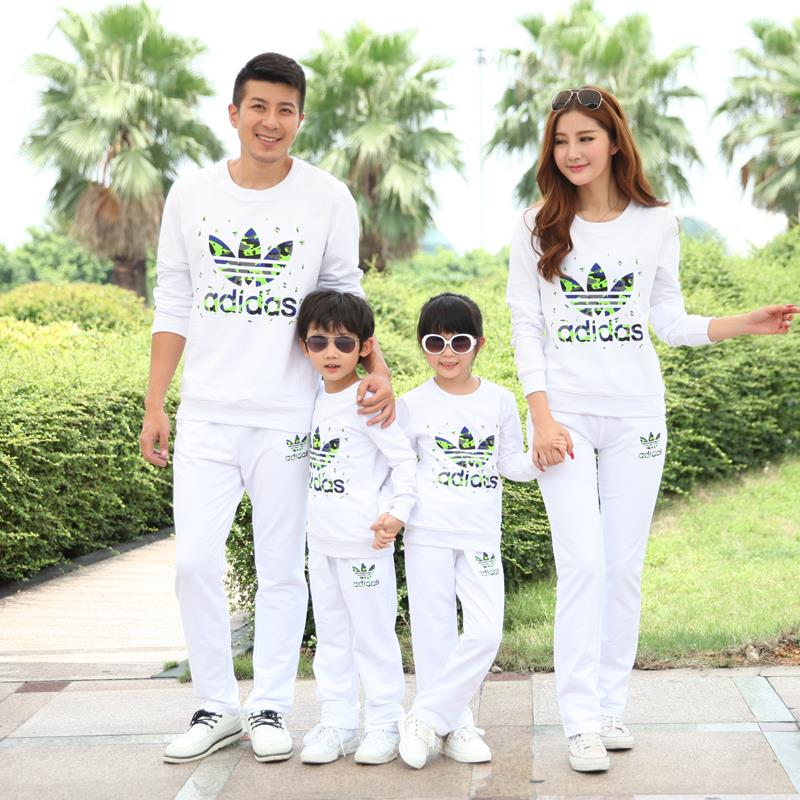 Family Clothing Active Clothing Sets for Mother and Daughter Father Son Matching Clothing Family Set Clothes, Green/White, HY24<br><br>Aliexpress
