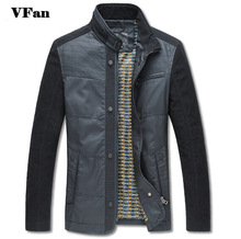 2015 New Mens Fashion Clothes Jacket Coat Stand Collar Splice Jackets Men Casual Windcheater Autumn Jacket M-3XL Z1371(China (Mainland))