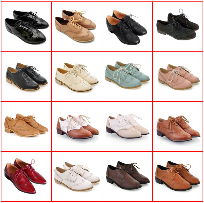 Hot Sale Carved Lace Up Oxford Shoes For Women Fashion Round Toe England Style Women Oxfords Ladies Casual Flat Brogue Shoes <br><br>Aliexpress