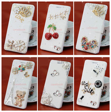 TZ Wiko Wax Case,3D Shiny Crystal Rhinestone Bow Bowknot Diamond Leather Case Cover - Colourful case store
