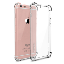 FLOVEME Anti-knock Case for iPhone 6 6S Plus Case Silicone for iPhone 7 7 Plus Case TPU Transparent Clear Cover Full Protective(China (Mainland))