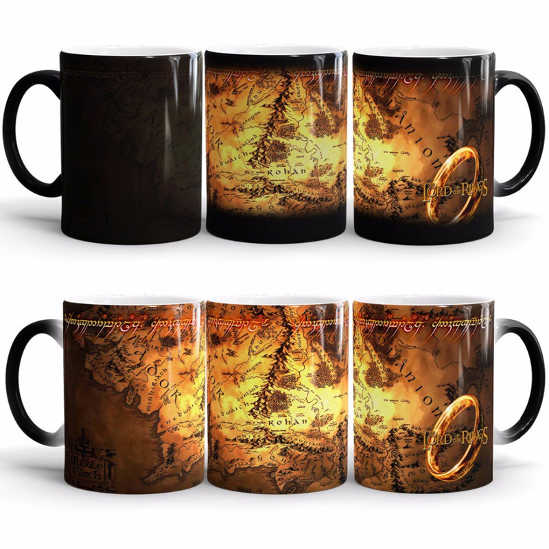 The Lord of The Rings Coffee Mug Mark Color Changing Cup Sensitive Ceramic Tea La Copa Friends Gift(China (Mainland))