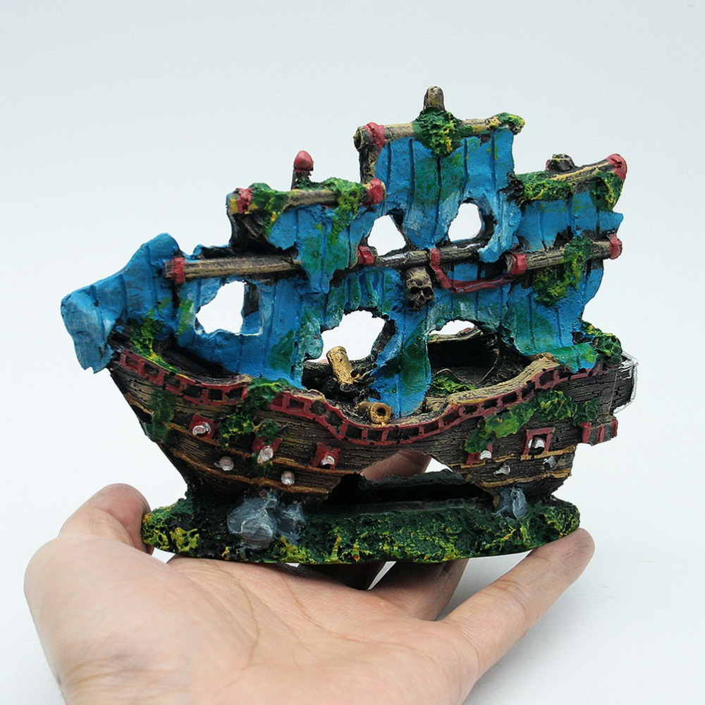 Online buy wholesale aquarium pirate ship from china for Aquarium decoration online