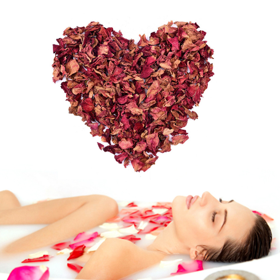 Natural Red Rose Dried Petals Buds 100% Organic Bath Soap Spa From China Yunnan Great Gift For Shower Bath