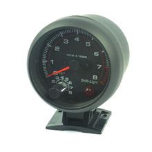 3 75 inch Black white shell light LED Tachometer gauge RPM car 0 8000 rpm free