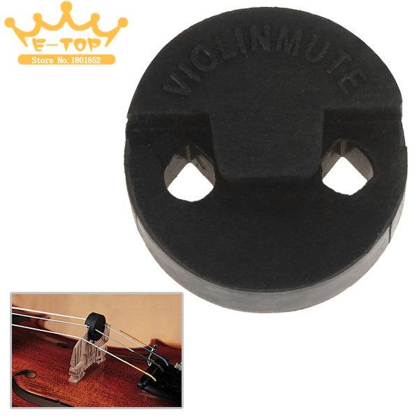 Acoustic Round Black Rubber Violin Mute Silencer Violin Parts Accessories<br><br>Aliexpress