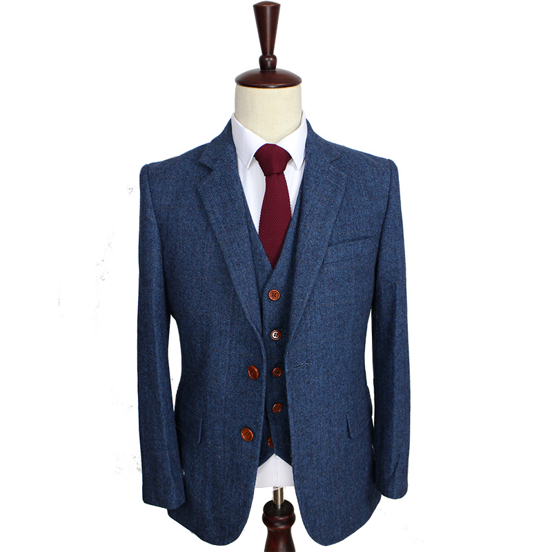 Suits For Men Retro Gentleman Style Custom Made Mens 3 Piece Suit