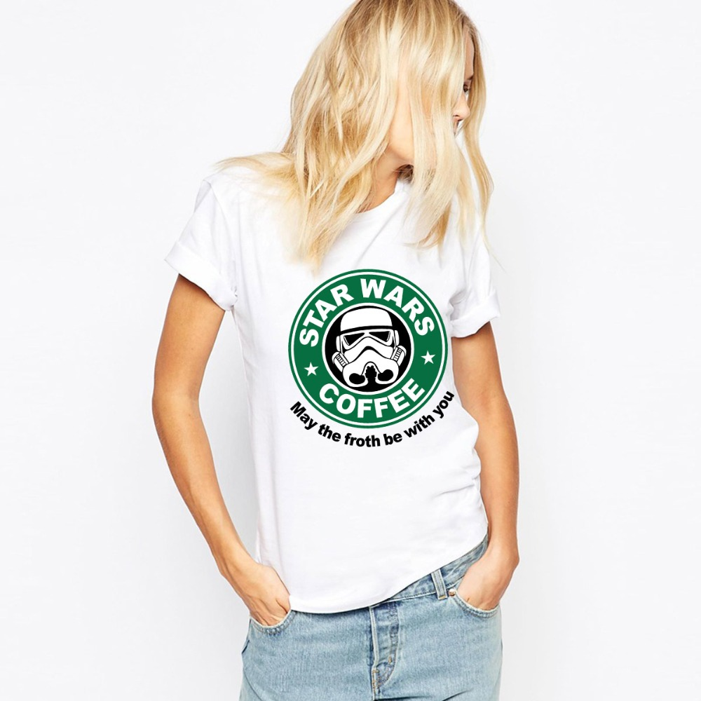 Star Wars T Shirts Women Cotton  O Neck Woman T-Shirt Euro Size tshirt Recreational Sports Womens Tees Shirt Free Shipping TopsОдежда и ак�е��уары<br><br><br>Aliexpress